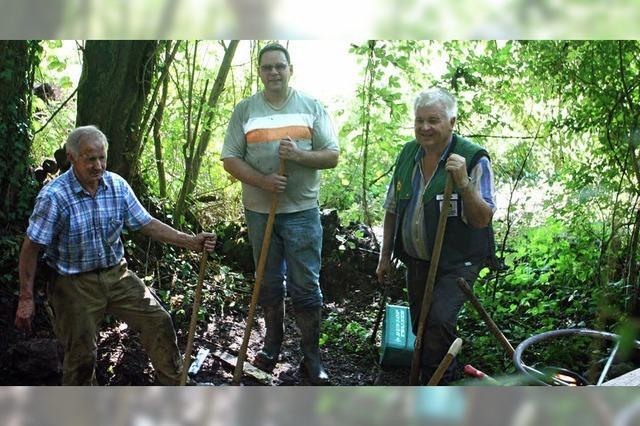Alte Bewässerungsanlage frei gelegt
