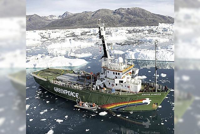 Greenpeace hält Mahnwache