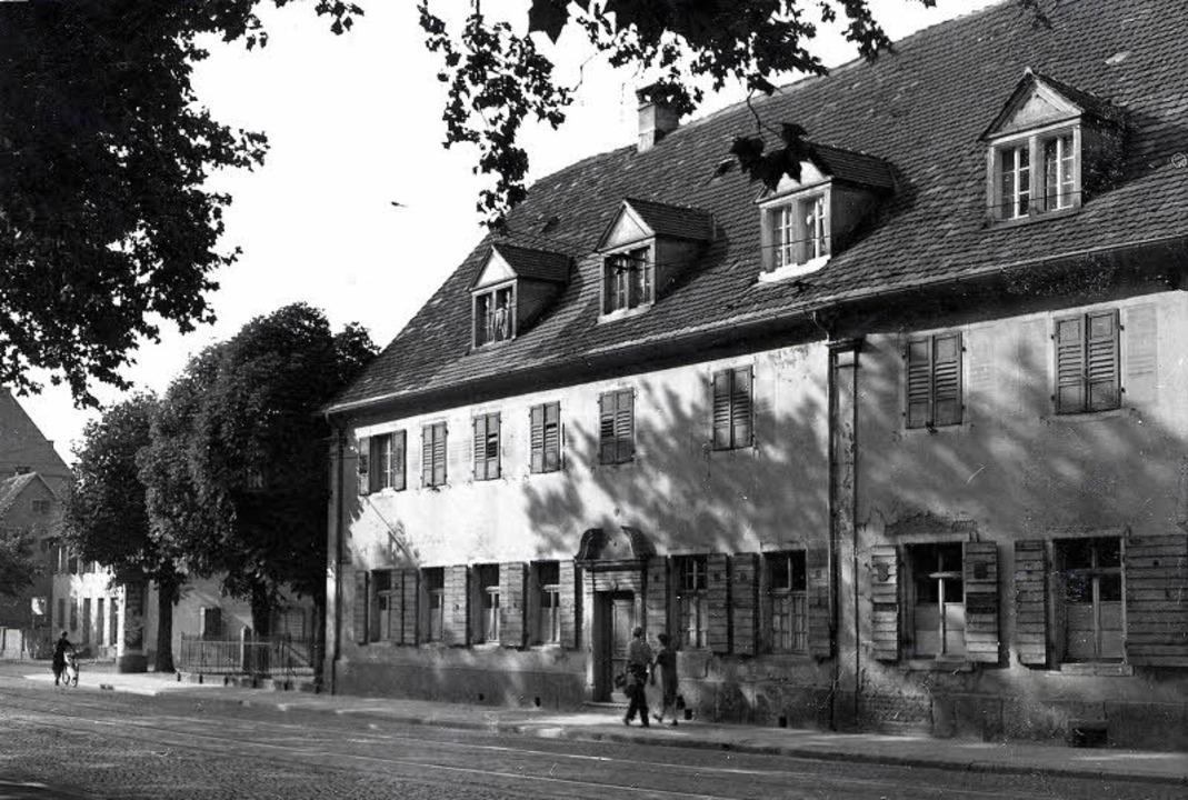 Das Dreikönigshaus in einer Aufnahme aus dem Jahre 1952.     | Foto: Stadtarchiv