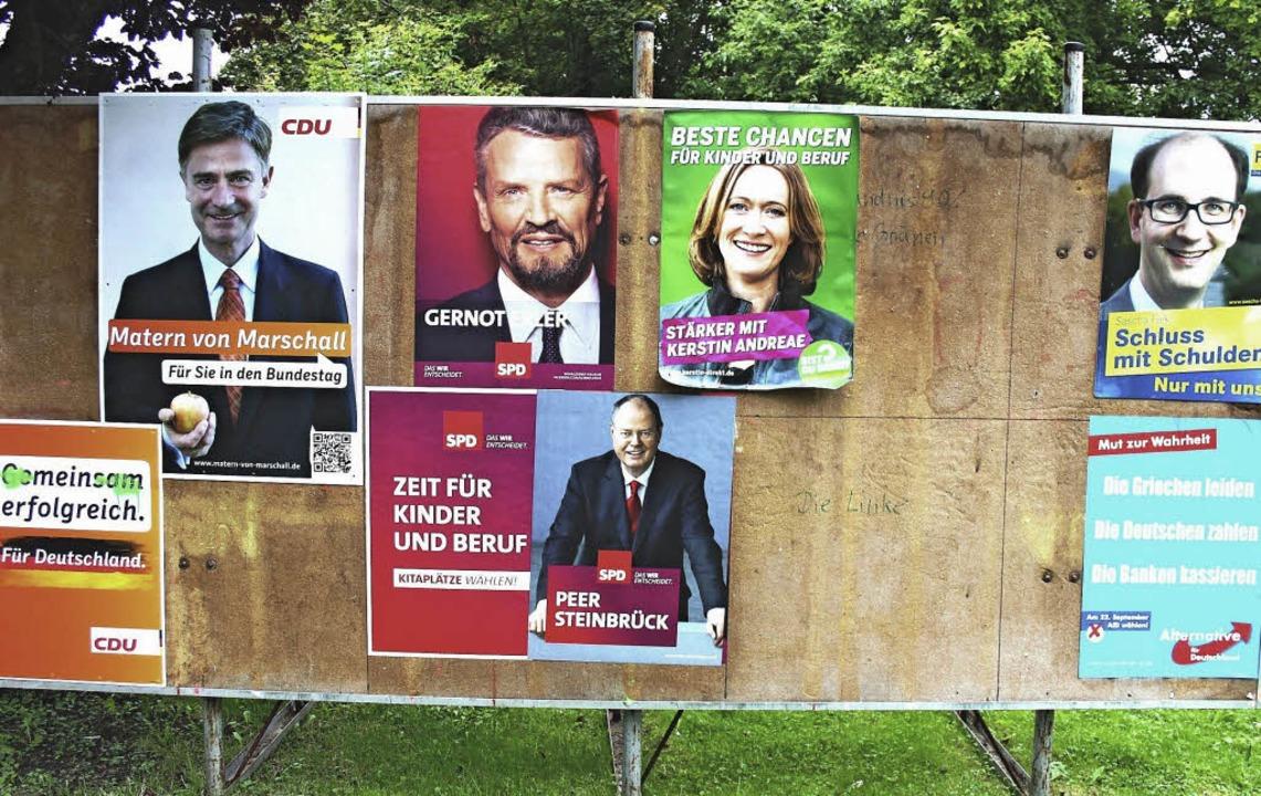 Vor der Wahl strahlten die  Kandidaten...ann auch in seiner Heimat March klar.   | Foto: horst david