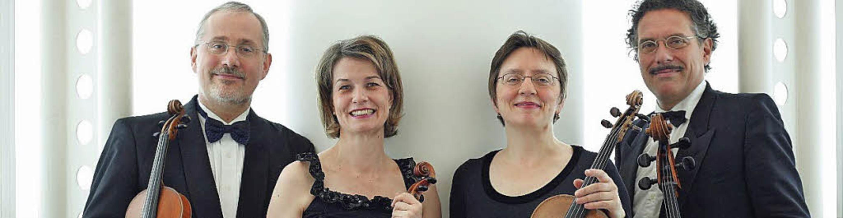 Aus der Schweiz: das Carmina-Quartett  | Foto: Denon/Anette Friedel