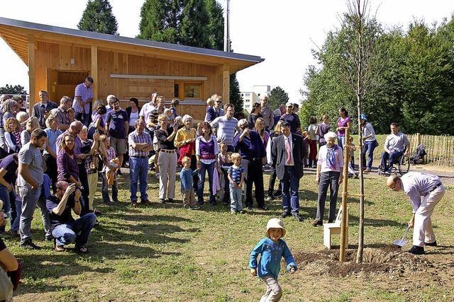 Die zweite Hütte des Waldkindergartens ist bezogen