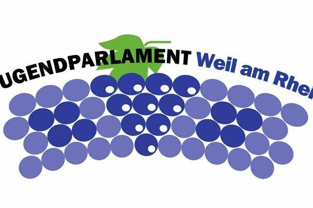 Jugendparlament mit Banner und Logo