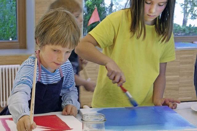 Kinder malen für die Stadtkirche