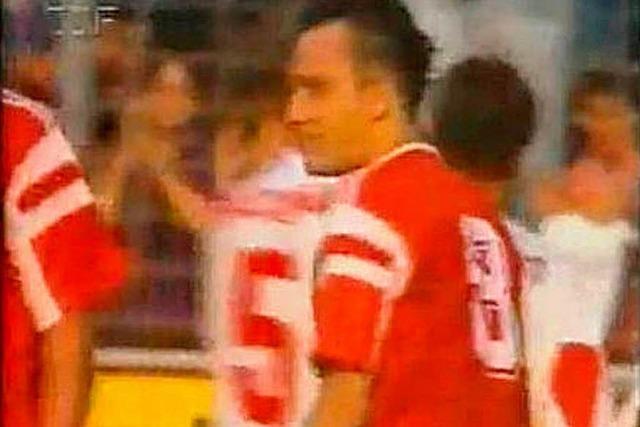 Als Streich 1991 im DFB-Pokal auf Schneider traf