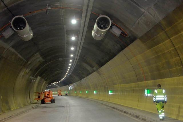 Endlich: Ab Montag ist der Hugenwaldtunnel wieder frei