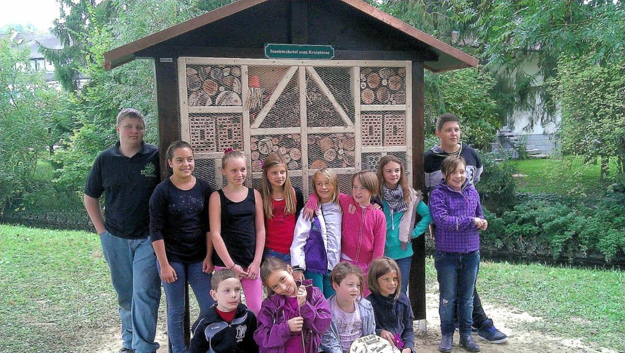 Der Narresome der Gottenheimer Narrenz...ch erbaute Insektenhotel am Mühlbach.   | Foto: privat