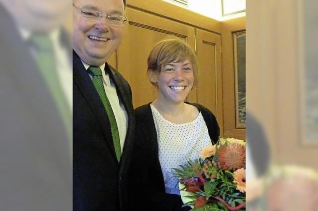 Teningen ehrt die erfolgreiche Kanu-Slalomfahrerin Lena Stöcklin aus Köndringen