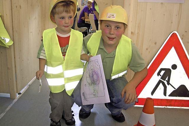 Evonik bietet eine Baustelle für Kinder