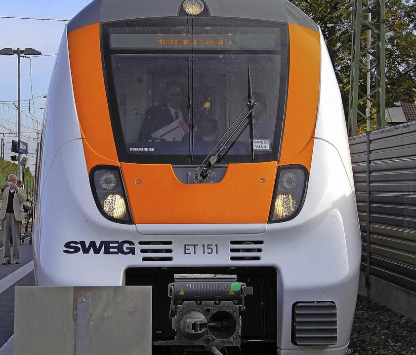 Die neue Münstertalbahn fährt, doch de...n der Region gestaltet sich schwierig.    Foto: A. huber