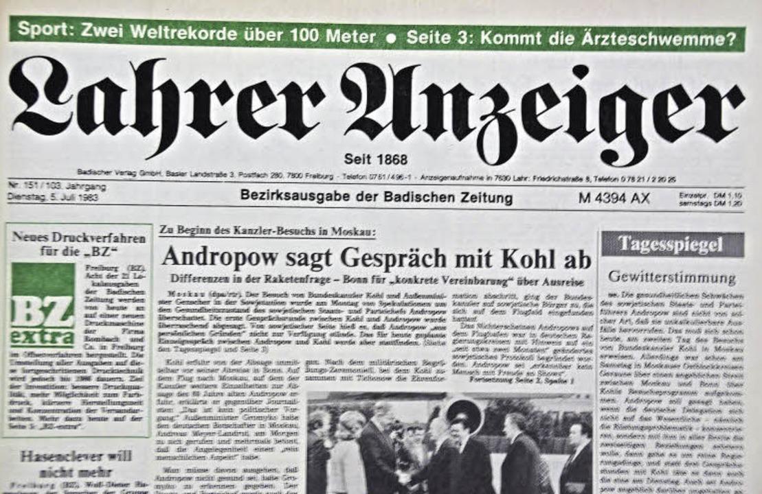 Badische Zeitung Heute