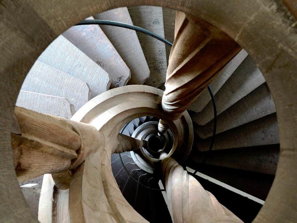 Treppe im Rathaus – bei der Komm...hl geht's dann rauf oder runter.  | Foto: Ingo Schneider
