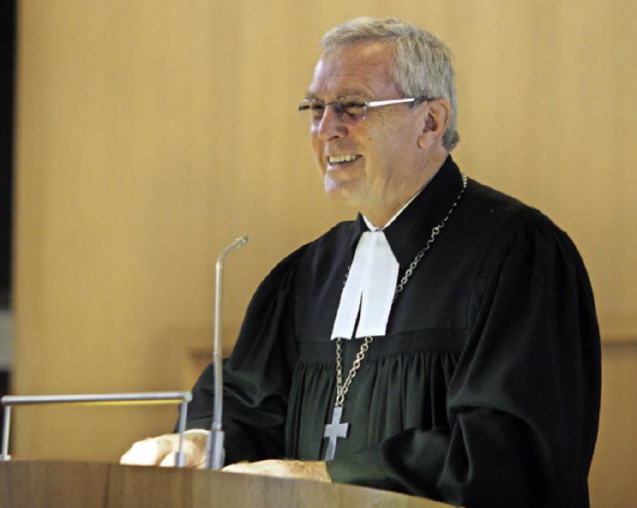 Landesbischof Ulrich Fischer in Altenheim.  | Foto: Heidi Foessel