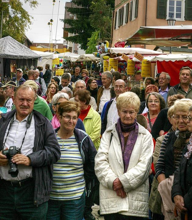 Viele Besucher kamen zum Festauftakt.  | Foto: Sandra Decoux-Kone