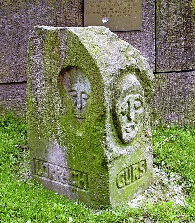 Gedenkstein für den Transport badischer Juden nach Gurs.   | Foto: BZ