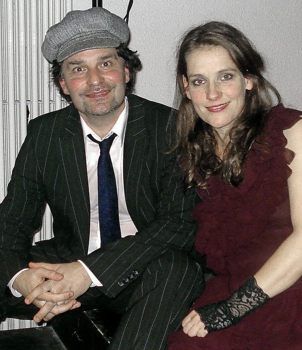 Pianist Franz Klaffke und Sängerin Sandra Jankowski     Foto: STEINECK