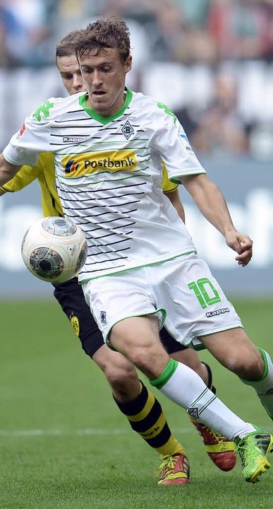 Der Ex-Freiburger Max Kruse, hier im Z... siegt glücklich mit Mönchengladbach.     Foto: AFP