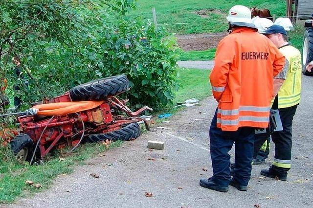 Traktorfahrer außer Lebensgefahr