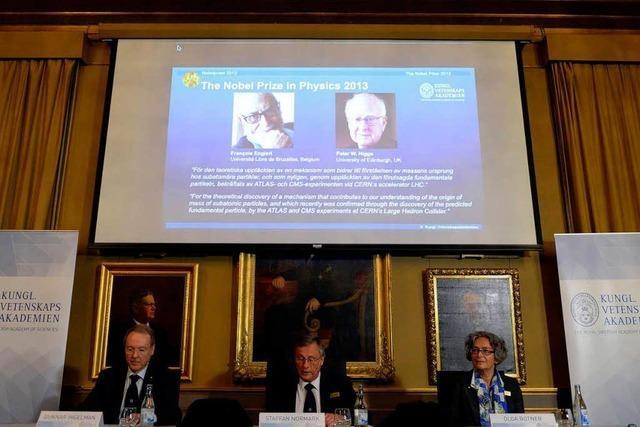 Physik-Nobelpreis für François Englert und Peter Higgs
