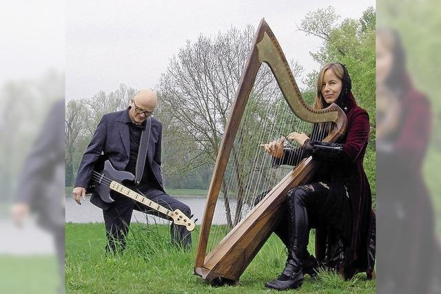 Immoment: Gothische Harfe und Gitarre