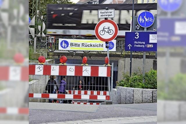 Soll die Unterführung am Bahnhof Fußgängern vorbehalten werden?