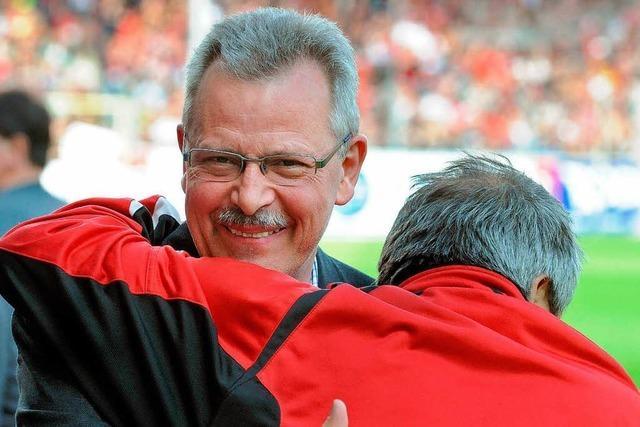 Der Schatzmeister des SC Freiburg steht nicht gerne im Rampenlicht