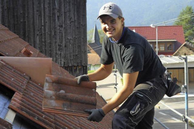 Ausbildungsberuf Zimmerer: Kevin Schultis muss schwindelfrei sein und zupacken können