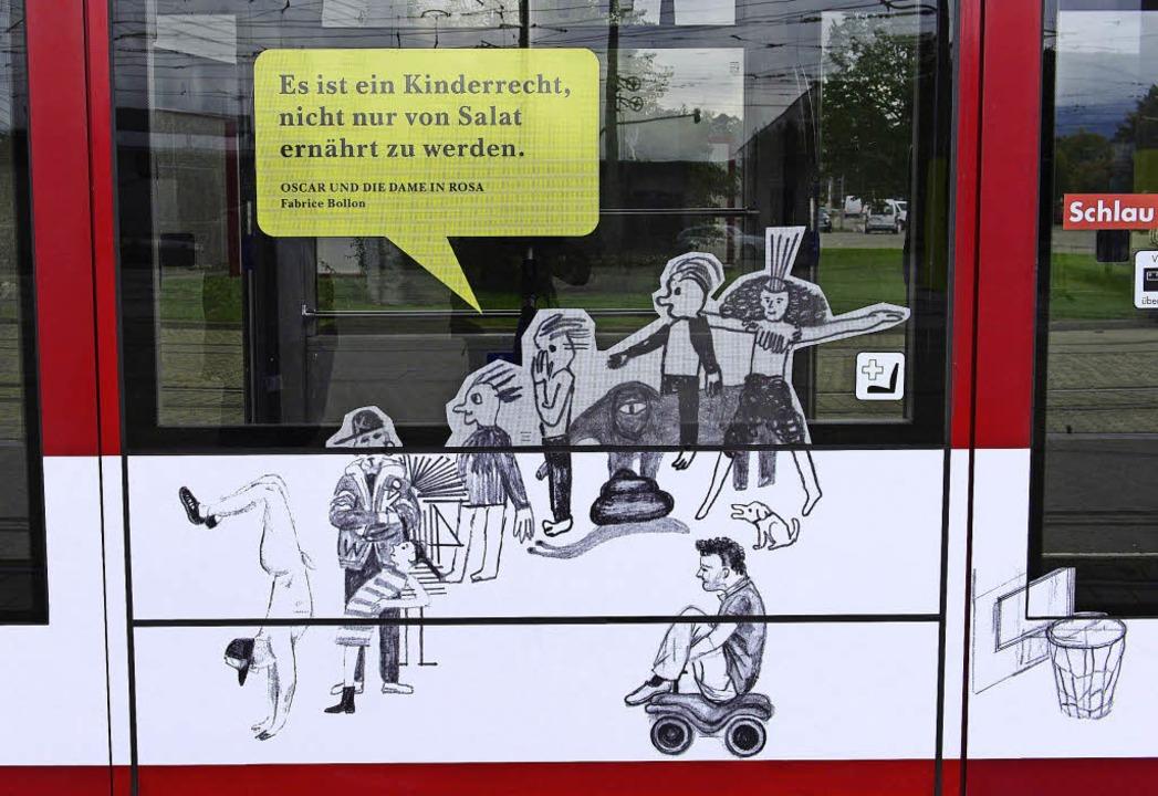 Irritierendes Detail auf der Straßenbahn    Foto: Ingo Schneider