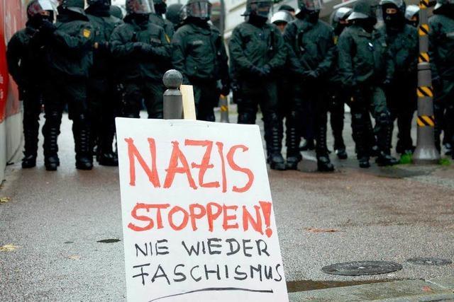 Gewalttätige Ausschreitungen vor Neonazi-Demo in Göppingen
