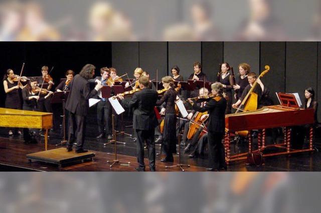 Barockorchester der Musikhochschule Trossingen spielt in Müllheim