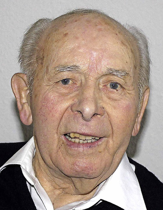 Friedrich Hummel feierte seinen 90. Geburtstag.  | Foto: U. Hiller
