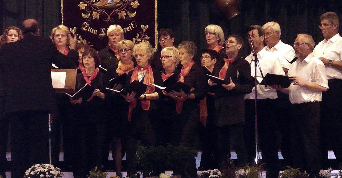 Überzeugte am Anfang und am Ende die Zuhörer: der Gesangverein Hofweier    Foto: reiner beschorner