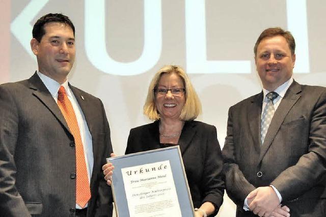 Marianne Maul hat den Kulturpreis erhalten