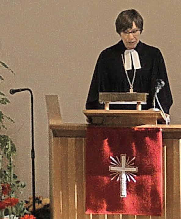 Beim Festgottesdienst hielt Prälatin D...am Sonntag eine vielbeachtete Predigt.    Foto: Paul Berger