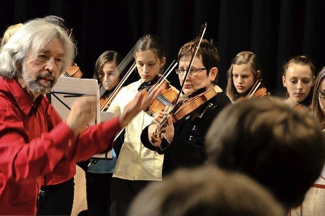 Musikschule feiert sich im Bürgersaal