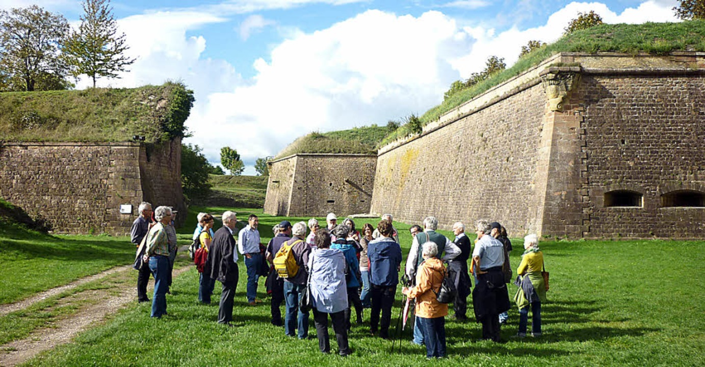 Beeindruckt von den Dimensionen der Ma...ührung durch die Festung Neuf-Brisach.    Foto: Privat