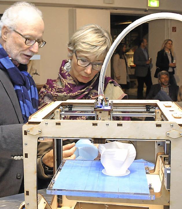 Design per 3-D-Drucker: Ein junges Sta...us Freiburg sorgte für Aufmerksamkeit.    Foto: Robert Bergmann