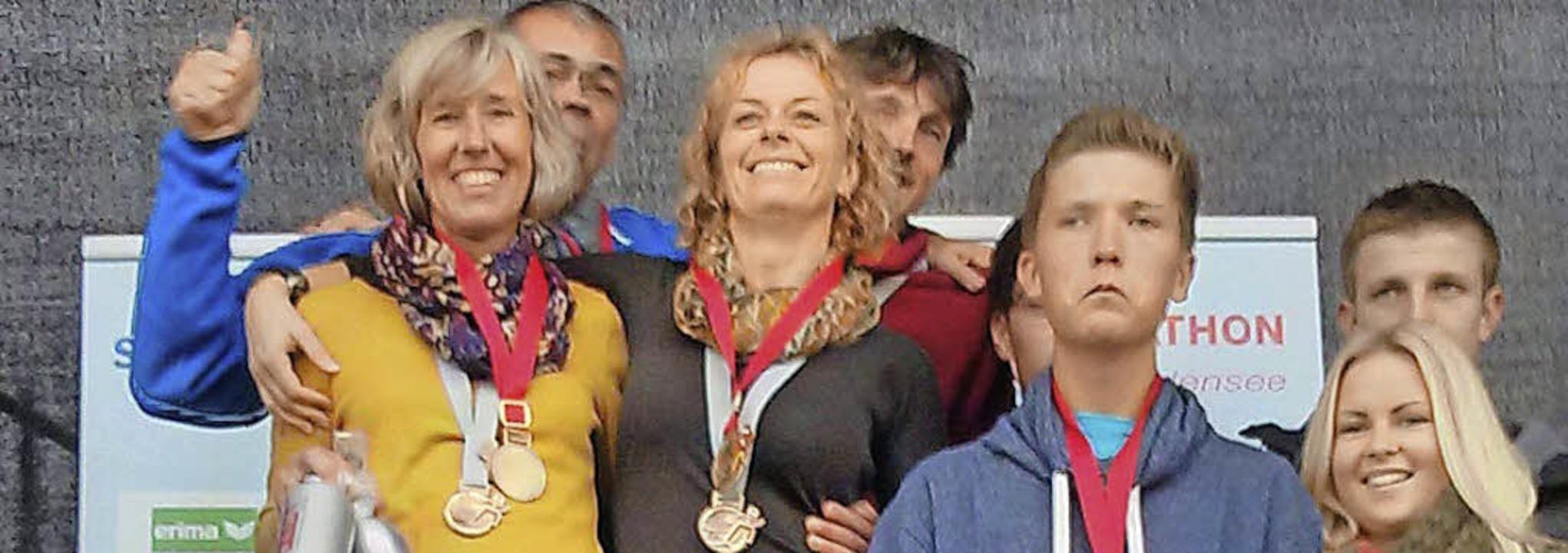Die erfolgreiche Laufstaffel   | Foto: Hochrhein-Runners