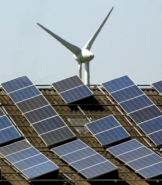 Windenergie an Land ist derzeit billiger als Solarstrom.    Foto: dpa