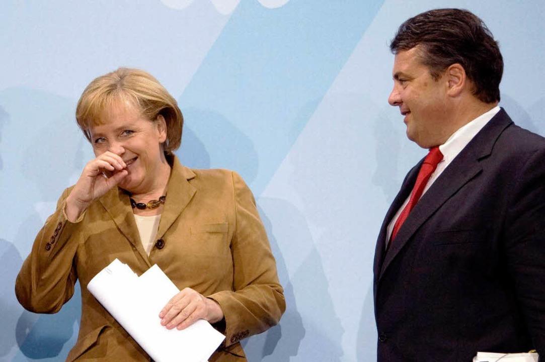 Als Sigmar Gabriel (SPD) 2007 das  Umw...rin Angela Merkel (CDU) wohl ganz gut.    Foto: dpa
