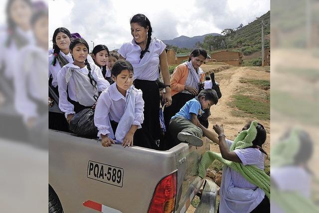 Begeisterter Empfang in Huánuco