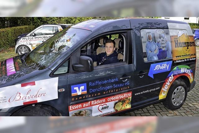 Ein Auto für die AWO – und Werbung für Sponsoren