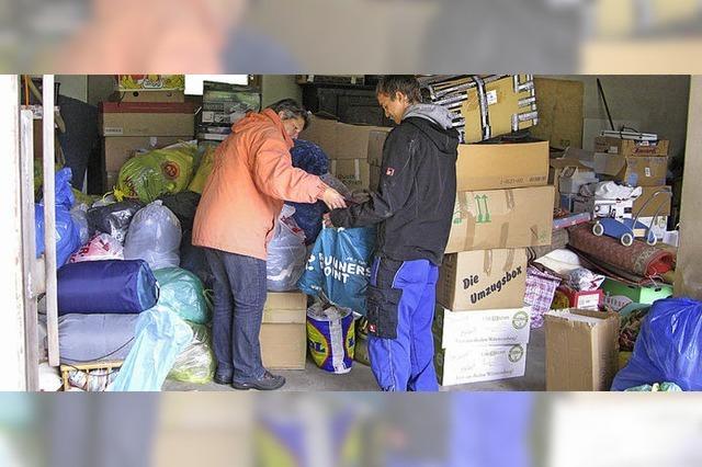 Sieben Tonnen Spenden