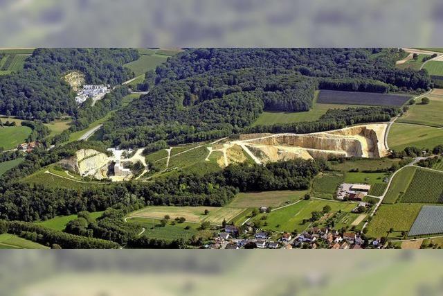 Erweiterung des Steinbruchs im Blick