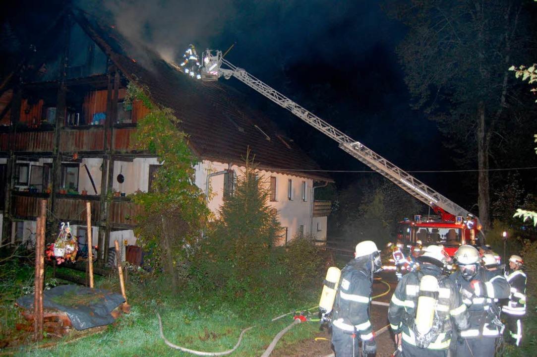 Dachstuhlbrand in St. Märgen