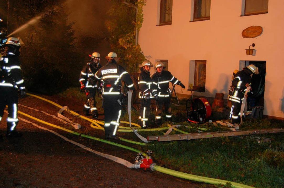 Dachstuhlbrand in Schweighöfe in St. Märgen    Foto: Kamera 24