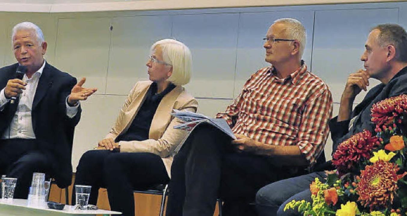 Charles Buttner, Gudrun Heute-Bluhm, M... Koch, Hans-Peter Wessels (von links)   | Foto: Mahro