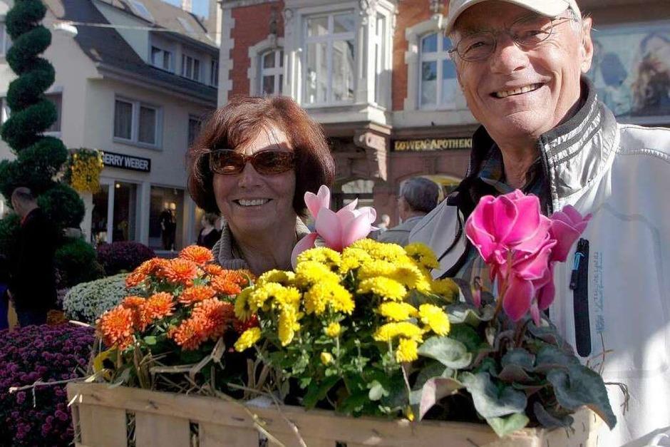 Das erste Chrysanthema-Wochenende: am Samstag von der Sonne verwöhnt, am Sonntag Regen (Foto: Heidi Foessel)