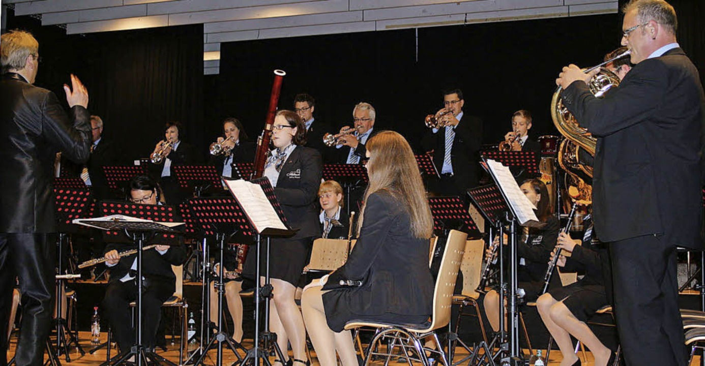 Vielseitigkeit und Anspruch begegneten...onzert der Stadtmusik. Foto: Ines Bode    Foto: Ines Bode
