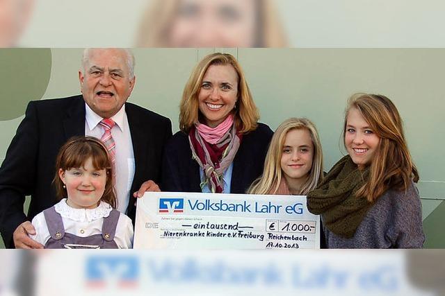 Spende für kranke Kinder